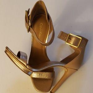 Calvin Klein golden heels Sandals